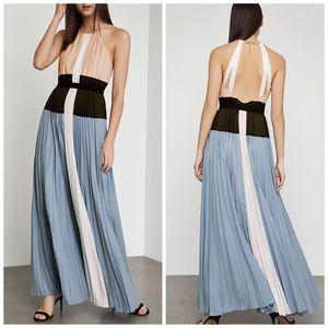 NWT Bcbgmaxazria pleated maxi dress.